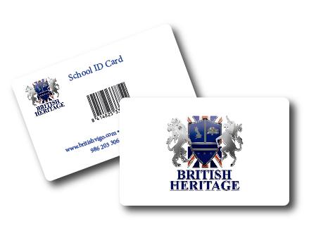 Impresión Tarjetas PVC con código de barras Vigo